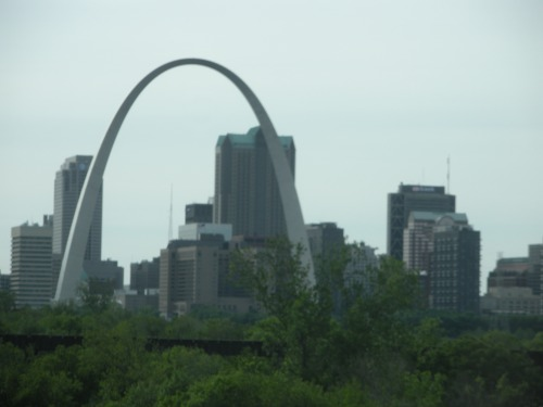 The first of two views of the St. Louis Arch, gateway to the West.