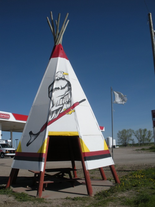 The tipis are everywhere in South Dakota. Even adorning gas station parking lots!