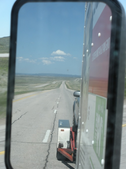 What behind us looked like at some point in Wyoming. It was pretty much the same as what it looked like in front of us.