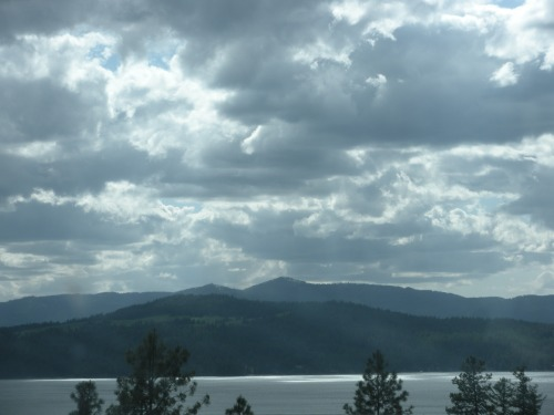 Lake Coeur d'Alene, near the Idaho-Washington border. Comes out of nowhere and is truly serene.