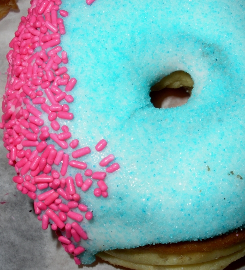 The consensus was this was a cotton candy flavored donut. Too sugary to tell for sure.
