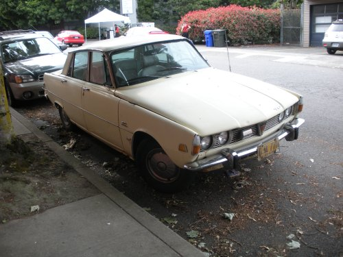 While not in the best of shape, this is a rare example of a Rover car.