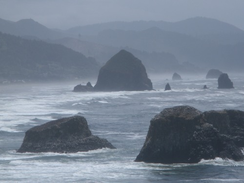 Cannon Beach and Haystack Rock from Ecola Point.