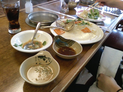 The spread at Hot Pot City.
