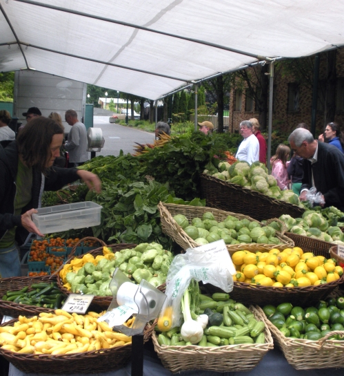 The Saturday farmers market at PSU.