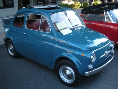 1962 Fiat 500. Kristina, I think you know this car very well. Or at least it's modern manifestation.