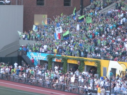 Our nemeses, the Seattle traveling support.