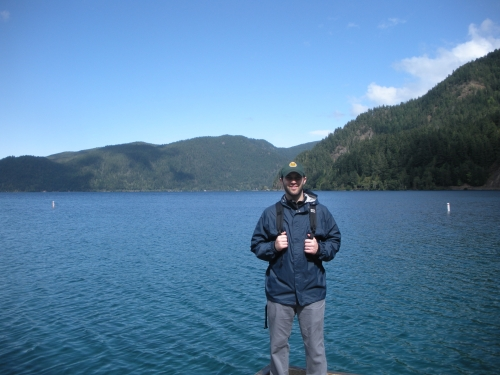 Michael in Front of Lake Crescent